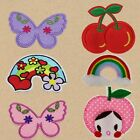 7Pcs Embroidery Butterfly Sew Iron On Patch Badge Bag Clothes Fabric Applique
