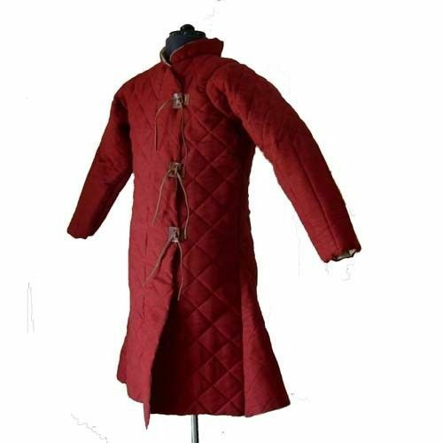 Theater Custome Sca Beautiful Thick Padded Red Gambeson Medieval Play Movies