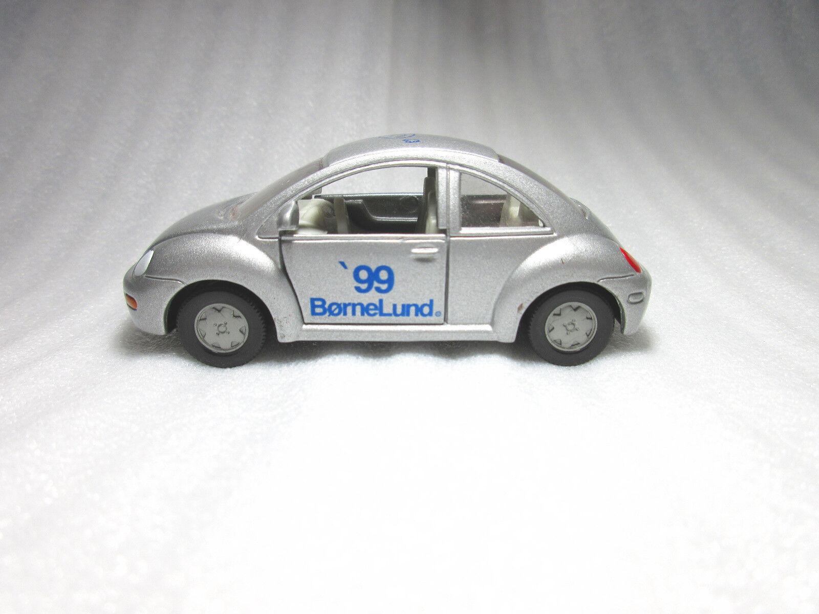 Siku Vw Volkswagen Nuevo Escarabajo plata bornelund 1999 exclusivo Diecast RARE PROMO