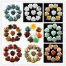 Wholesale 10pcs Mixed gemstone Heart Pendant Bead Please Pick Your Color XJ-045