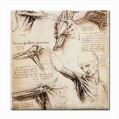 Leonardo Da Vinci Anatomy Study Art Ceramic Tile