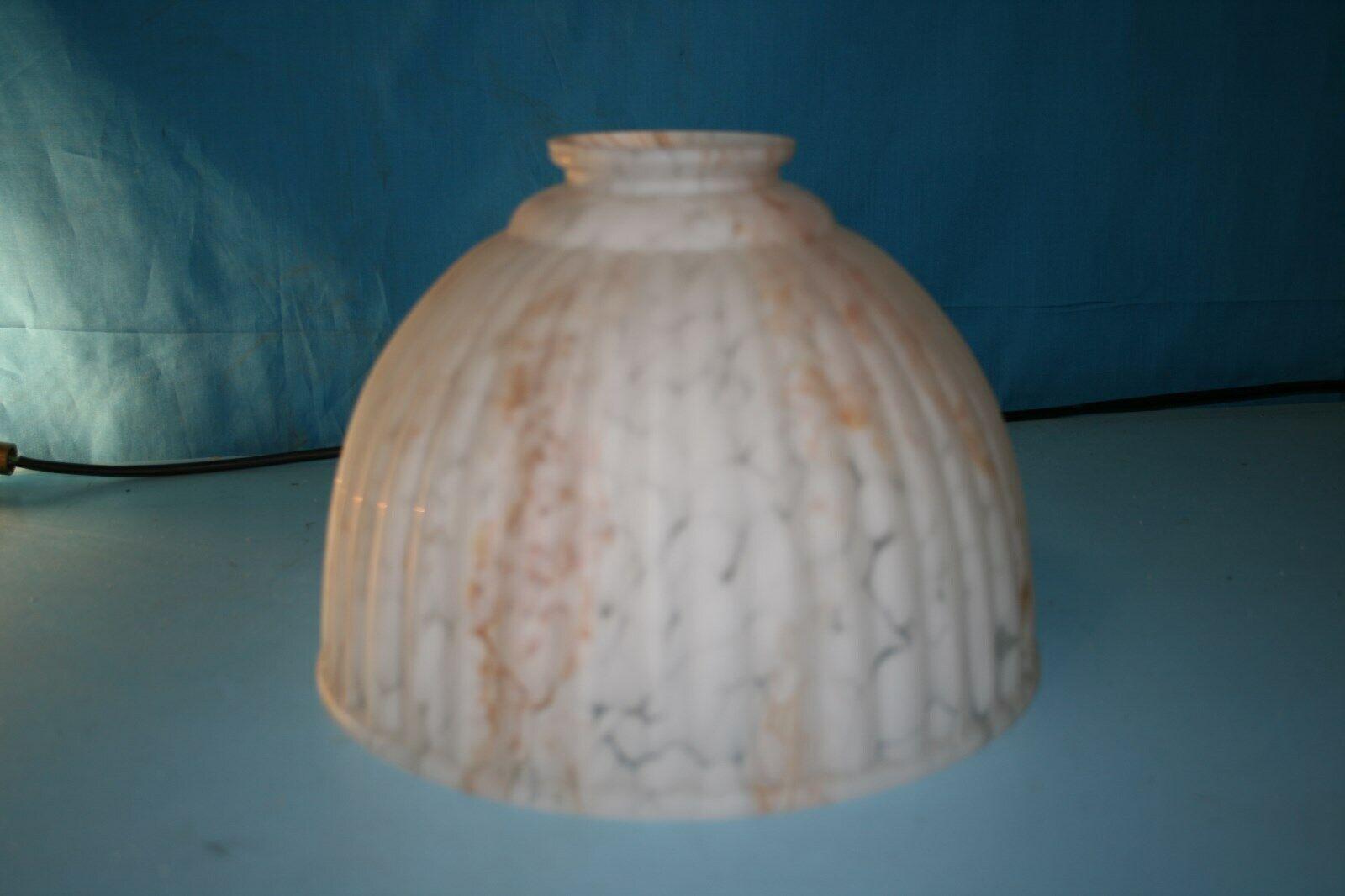 BIANCO e MarroneeE effetto marmo Lampadario Lampadario Lampadario in vetro a costine 35df54