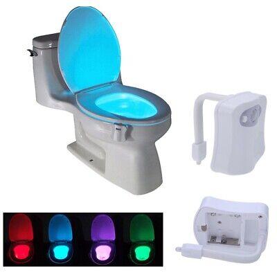 8-Color Toliet Bathroom Human Body Auto Motion Sensor Seat Light Night Lamp PA