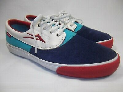 Blue Suede Leather Skate Shoes Mens 9