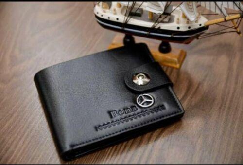 NOUVEAU MERCEDES Homme Benz Portefeuille Cuir Cadeau Idéal Idée Vendeur Britannique