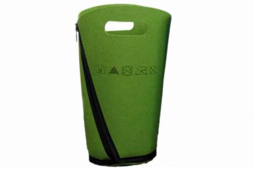 Papierkorb aus Filz grün oder türkis 25x50cm Filzkorb Wäschebox Wäscheorganizer