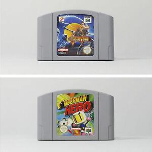 N64 Castlevania, Bomberman Hero PAL Cartuchos sólo Muy Buen Estado