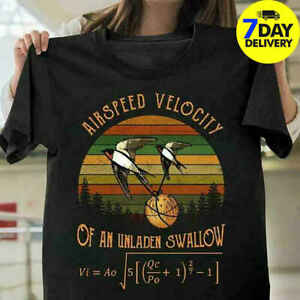 Airspeed-Velocity-Of-An-Unladen-Swallow-Monty-Python-Vintage-Black-T-Shirt-Funny