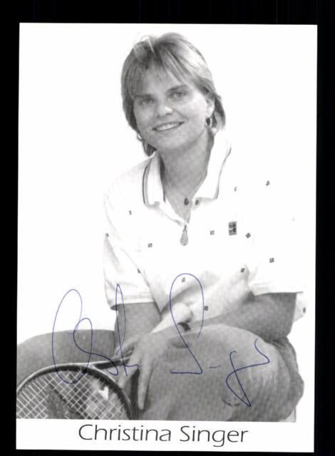 Autogramm AK Andrea Glass FILATennis eh Tennisprofi handsigniert 90er Rand