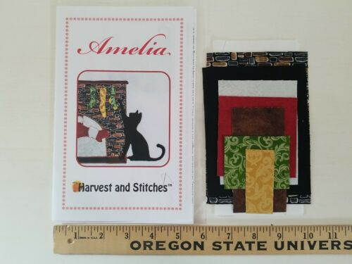 Harvest and Stitches Quilt Block Kit AMELIA GRANDMA/'S ATTIC Fabrics Pattern XMAS