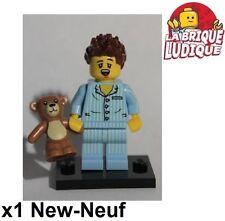 Lego - Figurine Minifig Minifigurine série 6 dormeur Sleepyhead réveil lit NEUF