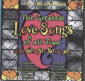 Details about The Greatest Love songs of the 60s '70s 80s 90s 2cd Startel