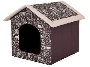 Dog Cave Hobbydog Maison De Chien Doghouse Brun Avec Des Mots R5: 70 X 60 Cm