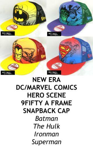 NEW ERA DC//MARVEL COMICS HERO SCENE 9FIFTY A FRAME SNAPBACK CAP ASSORTED