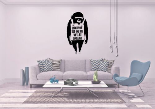 Banksy Laughing Now Ape  Inspired Design wall Decal Sticker Vinyl