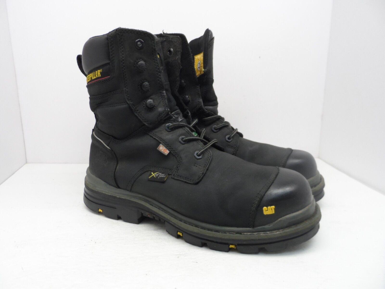 Caterpillar CAT Men's RASP 8  Waterproof Met CSA Comp Toe Work Boots Black 12W