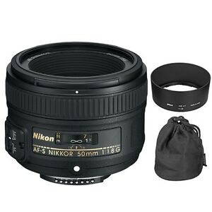 Nikon AF-S Nikkor 50mm f/1.8G Lens for Digital SLR Camera Body 18208021994