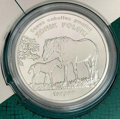 COMMEMORATIVE COIN OF POLAND KONIK TARPAN MINT ANIMALS OF THE WORLD HORSE