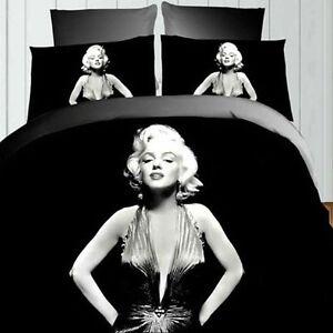 Edredon Marilyn Monroe.Detalles Acerca De 4 Un Retro 3d Hoja De Marilyn Monroe Reina Del Lecho Del Edredon Cubierta Funda De Almohada Mostrar Titulo Original