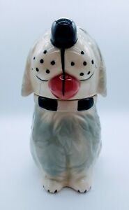 Vintage DAN THE DOG CERAMIC LIVASNAPS Cookie TREAT JAR Alpo McCoy USA Pottery