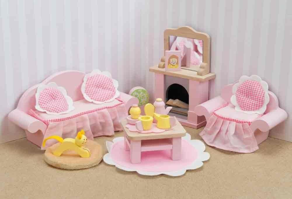 Le Toy Van ME058 Wohnzimmer  Sitting Room Set  1 12 für Puppenhaus Holz NEU       | Ruf zuerst