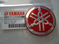Yamaha Retro Vintage Metal Tank Emblem Badge 55mm RED **GENUINE YAMAHA & IN UK**