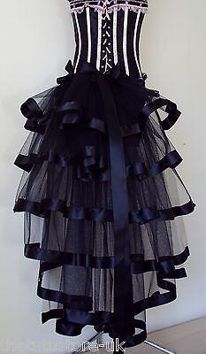 NEw BlaCk BurlesQue Bustle Belt Sexy Satin Steampunk Goth Victorian Halloween