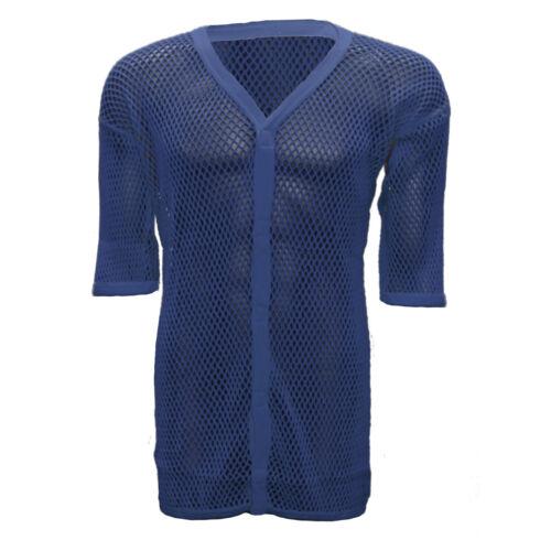 Unisex Half Sleeve String Vest Cardigan AMIR Premium 100/% Cotton Mesh Top