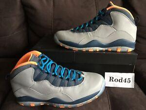 a8f46f2fe46 Nike Air Jordan Retro 10 X Wolf Grey Powder Blue Atomic Bobcats ...