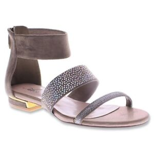 Azura-Spring-Step-Women-039-s-Liss-Double-Strap-Sandals-Taupe-Size-38-EU-7-5-8-US