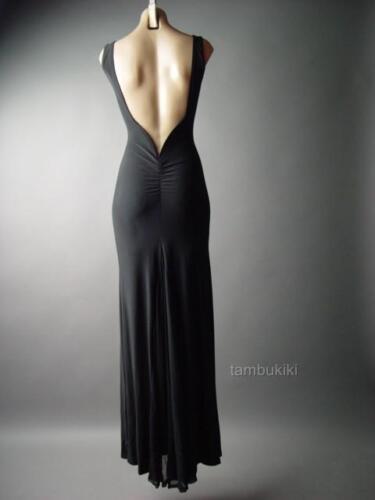 Sale Black Formal Backless Column Prom Mermaid Ball Gown Long 236 mv Dress S M L