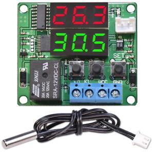 Digital-Thermostat-12V-DC-Einstellbar-Temperaturregler-W1215-Schalter-mit-Sensor