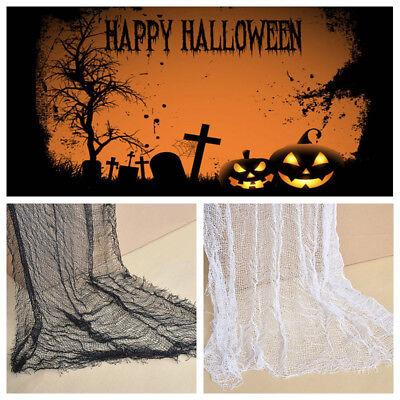 Halloween Decoration gauze Sheer Gauze Element Yarn Black and White Decor