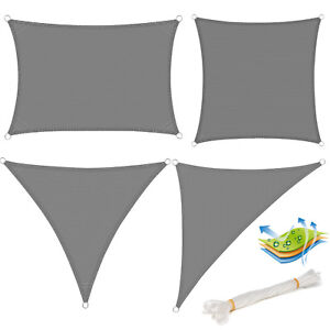 top sonnensegel sonnen uv schutz rechteck quadrat dreieck. Black Bedroom Furniture Sets. Home Design Ideas
