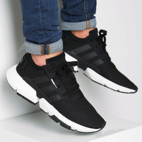New ADIDAS Originals POD S3.1 BOOST Sneaker Mens black white all sizes