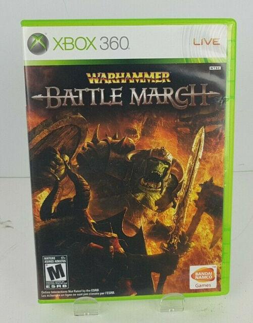 Warhammer Battle March (Microsoft Xbox360, 2008) No Manual