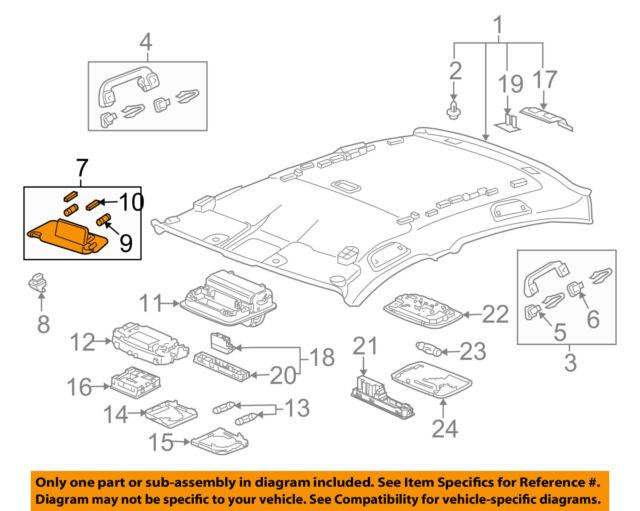OEM Parts 4350389795 Interior inside Sun Visor Shade RH Gray For GM Chevrolet Sonic 2012