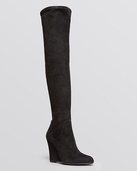 i nuovi stili più caldi Via Spiga Brodie Brodie Brodie Over The Knee Wedge nero stivali US Dimensiones 8 & 9 & 9.5 M  595  prezzo all'ingrosso