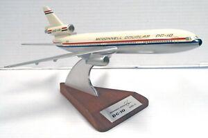 McDonnell Douglas DC-10 Series 10 Passenger Jet Airplane Wood Base Desk Model