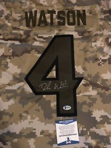 new product e2c3c fb86b Details about Deshaun Watson Nike Authentic autographed Salute To Service  Jersey COA