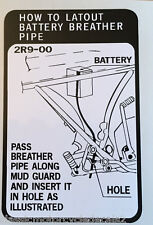 YAMAHA RD400 RD400D RD4000E RD4000F 2R9 BATTERY BREATHER CAUTION WARNING DECAL