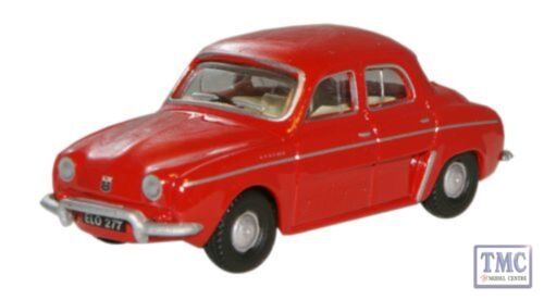 76RD004 Oxford Diecast Red Renault Dauphine 176 Scale OO Gauge