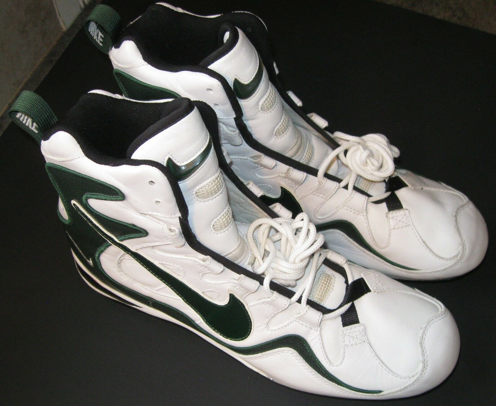 b772358be NEAR PERFECT MENS NIKE ZOOM AIR FOOTBALL CLEATS SIZE 14 REGGIE WHITE STYLE
