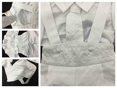Baby Boy Christening Baptism White Outfit/suspender/cross/3 Pieces Outfit/xs-xl Clothing, Shoes & Accessories