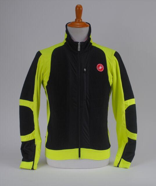 Castelli Elemento 7X Air Jacket Windstopper Men's Cycling Black Yellow Fluo XL
