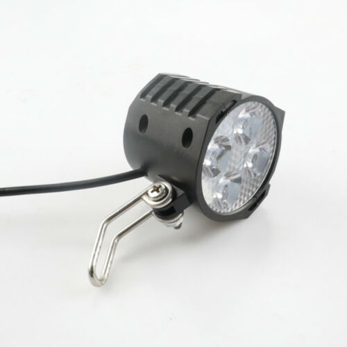 Electric Bicycle LED Headlight Light  Waterproof eBike Front Flashlight w// Horn