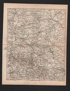 Landkarte-map-1878-Schlesien-und-Posen