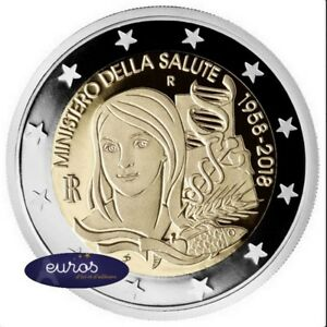 2-euros-commemorative-ITALIE-2018-Annivers-Ministere-de-la-Sante-Qualite-UNC