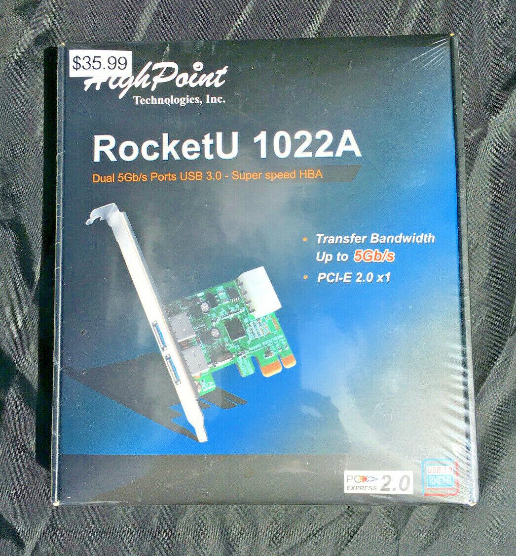 High Point RocketU 1022A Dual 5Gb/s Ports USB 3.0 PCI-E 2.0 Add-on Card