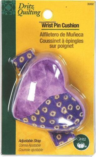 DRITZ HEART SHAPED WRIST PIN CUSHION VARIOUS COLORS SEWING /& QUILTING TOOL D3002